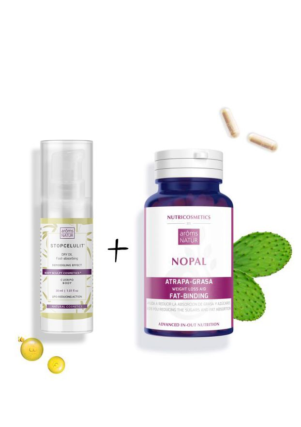 NOPAL Nutricosmetics 60 cáps + STOPCELULIT ACEITE SECO PACK 30 ml
